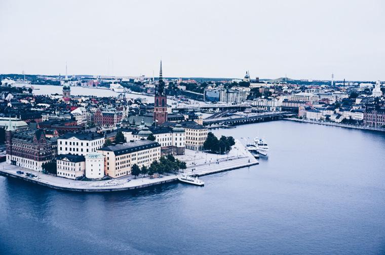 Aussicht über Stockholm von oben