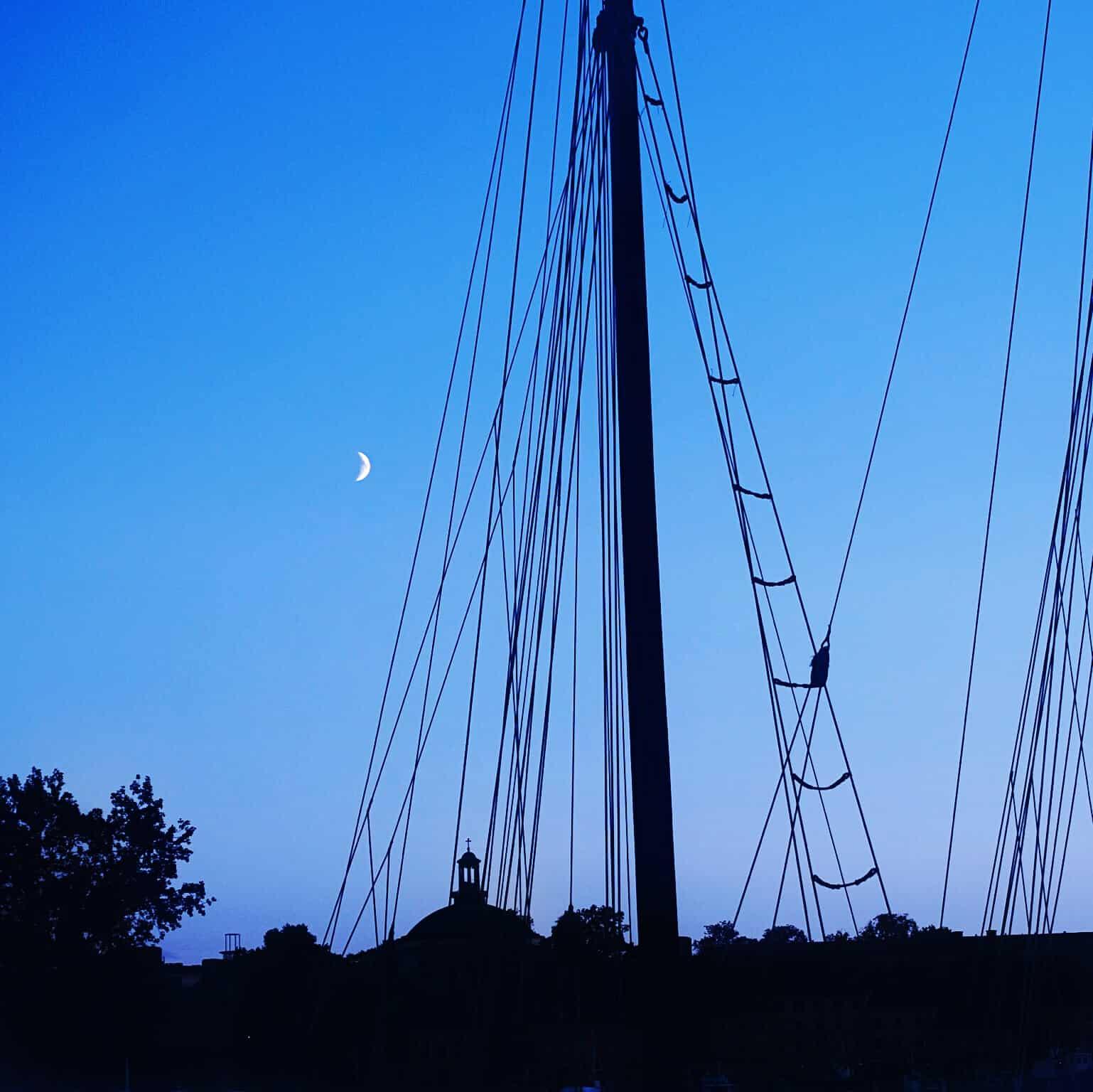 Stockholm, Sunset in the City, Sonnenuntergang in der Stadt, Aussicht Schweden, Sunset, Sonnenuntergang, Meer, Segelschiff inSchweden, Schiff, Piratenschiff, Natur in Stockholm, Insel in Stockholm, Sweden
