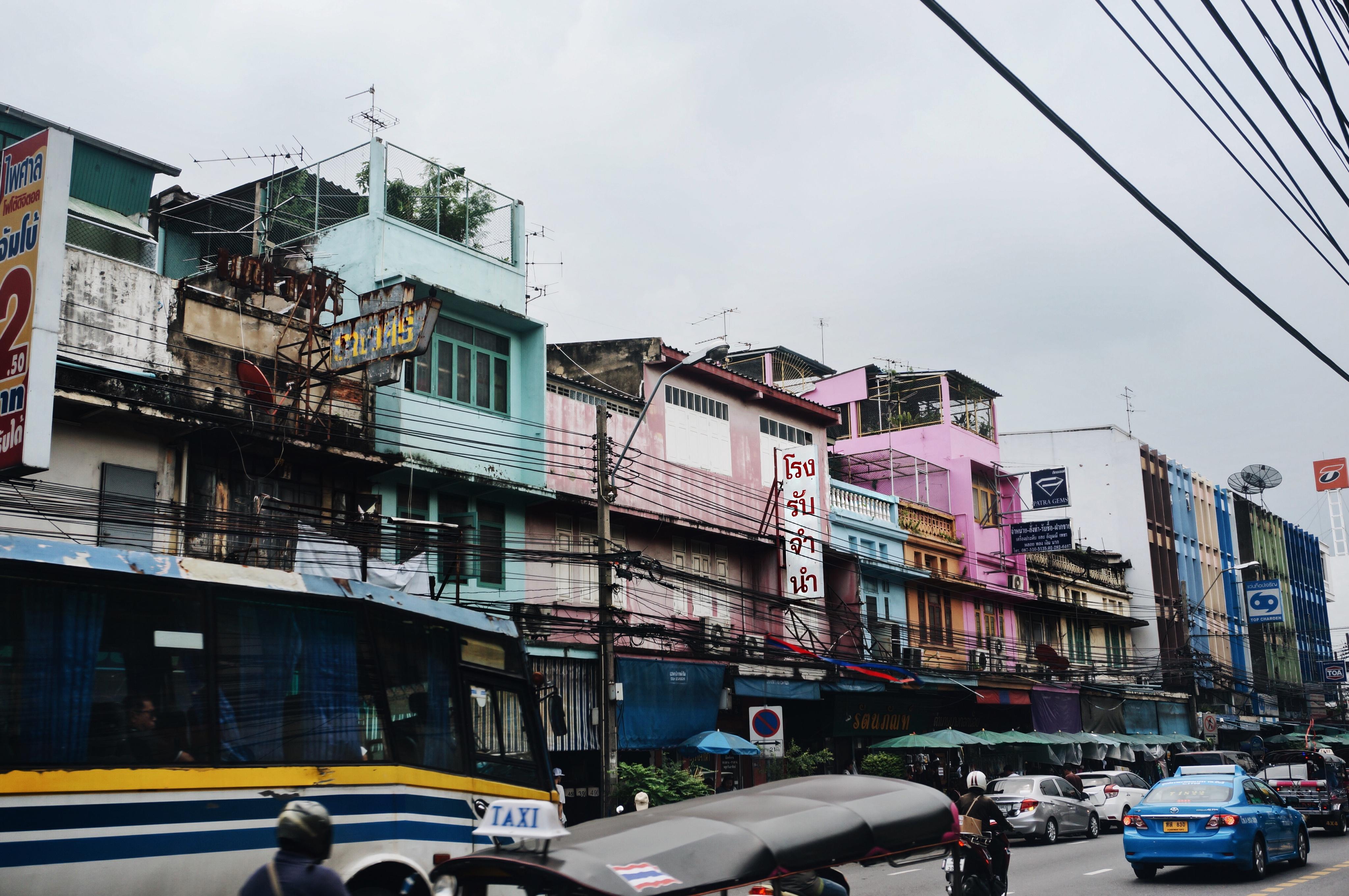 Thailändische Hause, Stadt, Bangkok Sehenswürdigkeiten, Khan San Road, Tourismus in Thailand