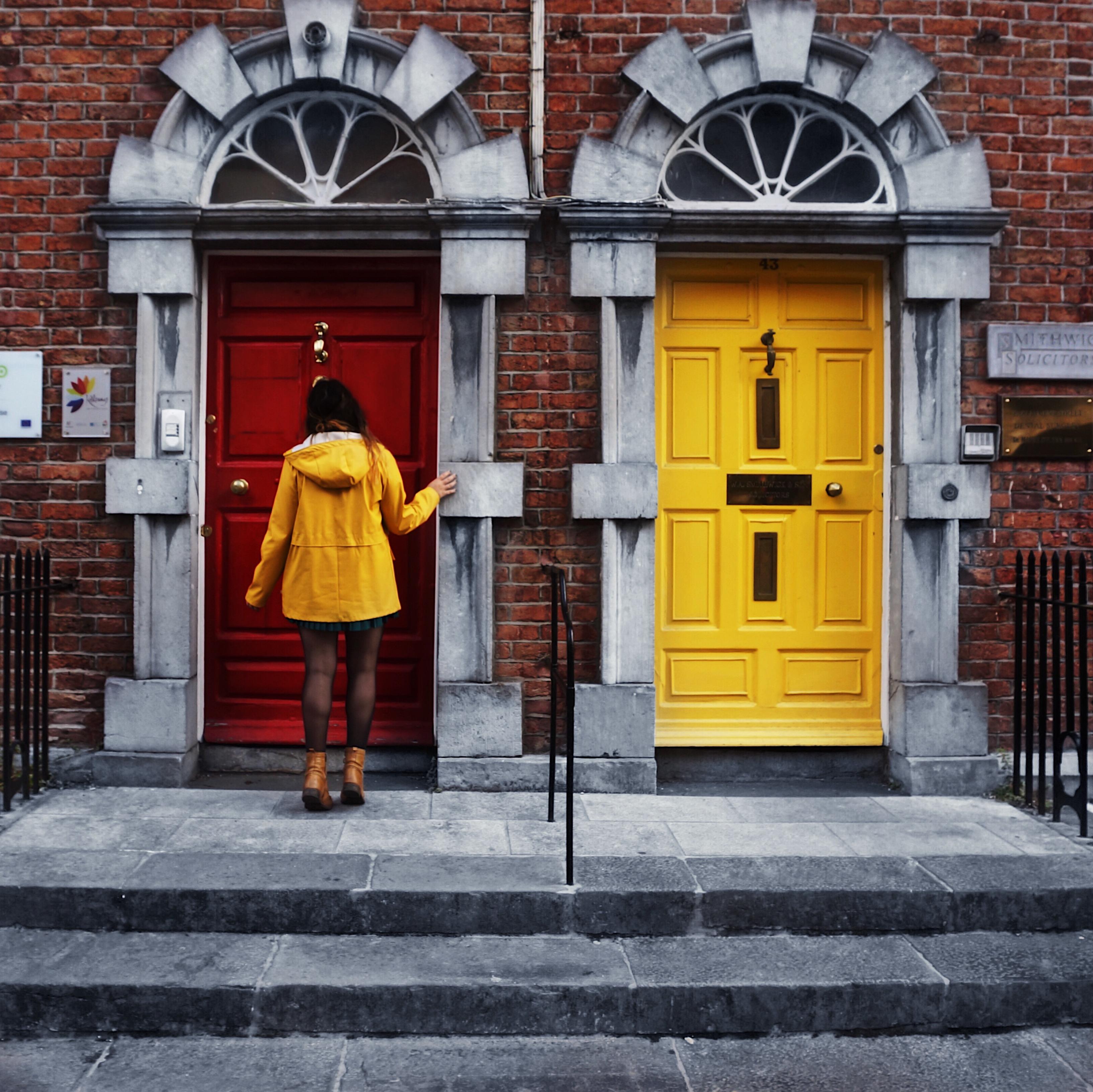 Haustür, Irland, Kilkenny, Irland, bunte Türen