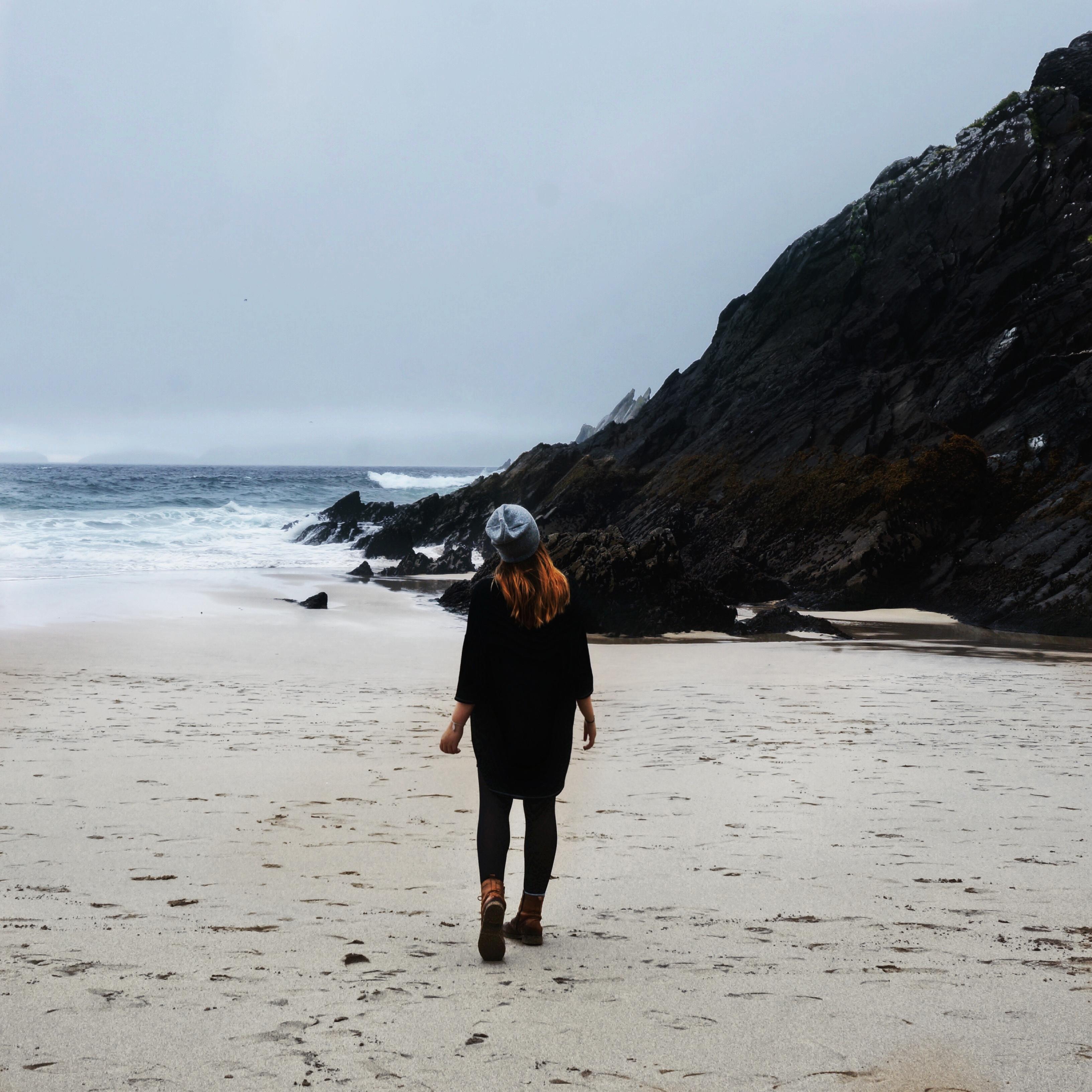 Irland, Sehenswürdigkeiten, Highlight, Klippen Cliffs, Regenjacke, Abenteuer