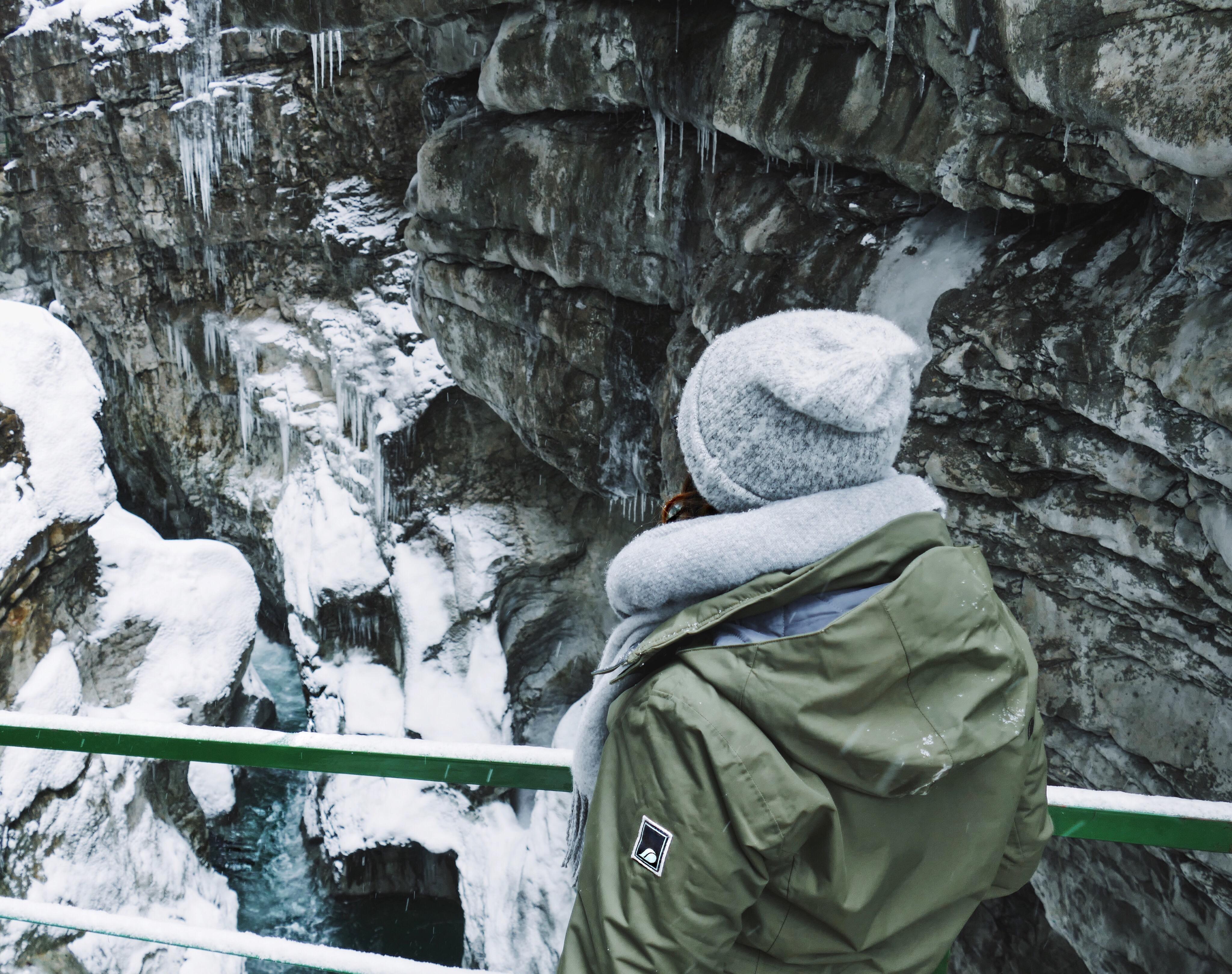 Klamm Ausflüge in Bayern, Deutschlang Kurztrip Highlights, Wandern Natur winter