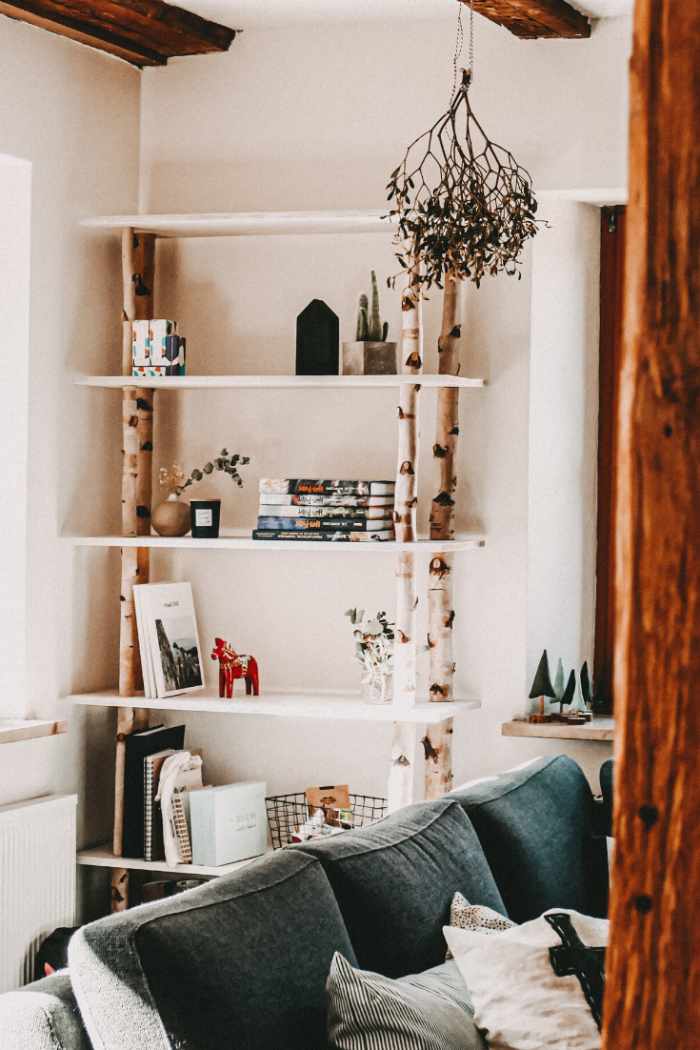 Besonderes Birkenregal bauen – tolles DIY | Möbel selbst bauen