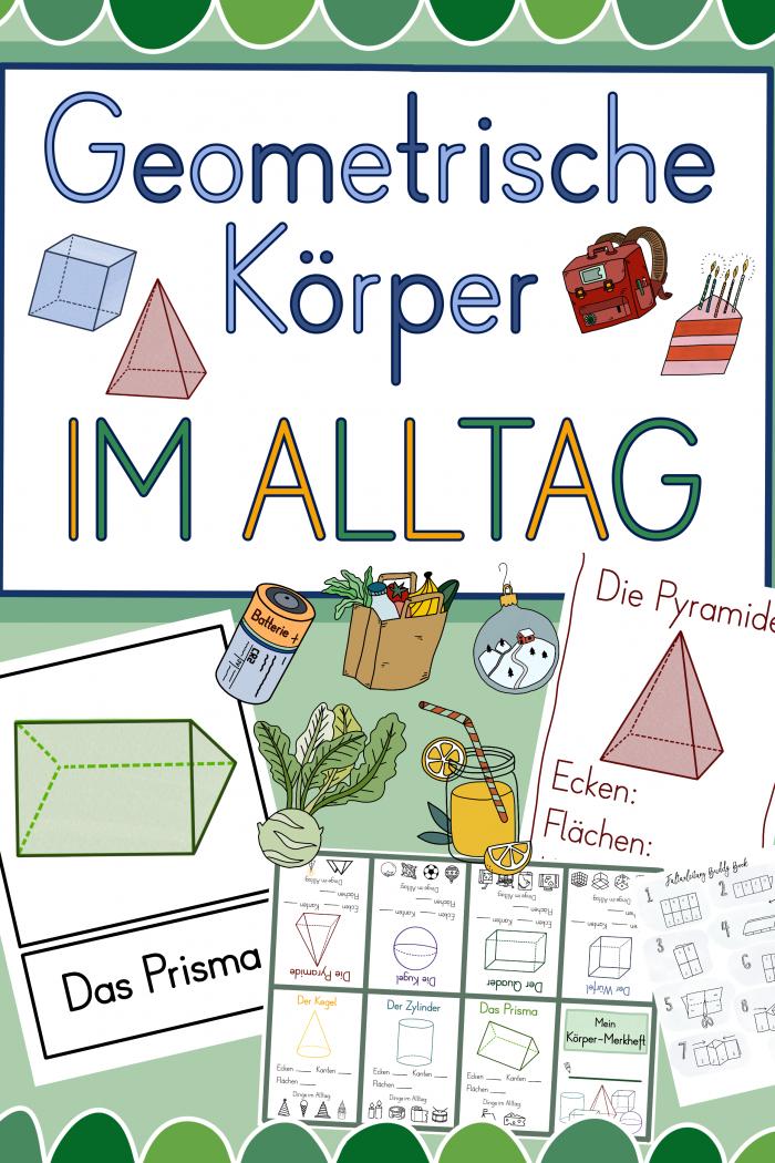 Geometrische Körper in der Grundschule – tolles Material zum Download