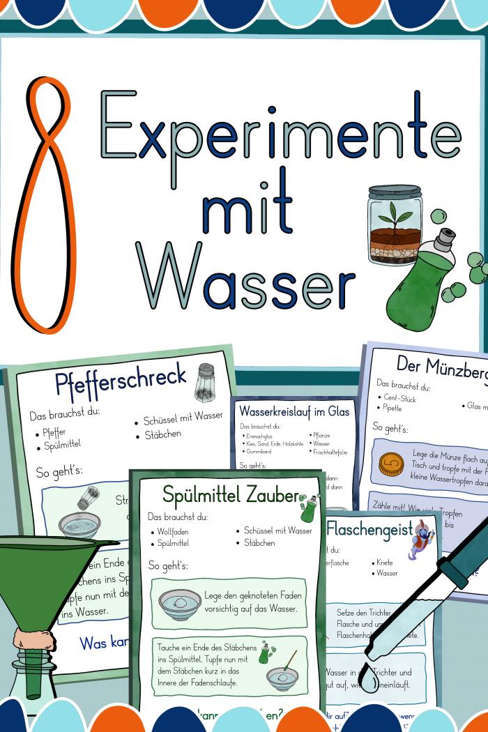 8 Experimente mit Wasser – Forschen in der Grundschule
